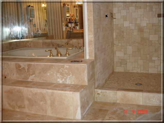 Bathroom Remodeling Alpharetta Ga bathroom remodeling in alpharetta ga - shower travertine tile