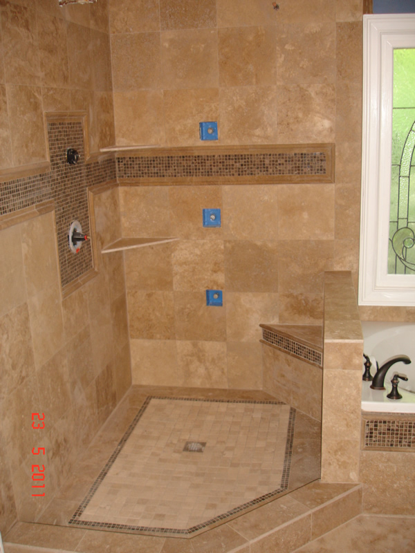 pan shower waterproofing shower floor and walls tile installation
